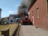 Gebäudebrand Gasweg am 07.08.2018